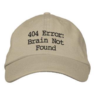 Gorra Bordada Error 404: Cerebro no encontrado