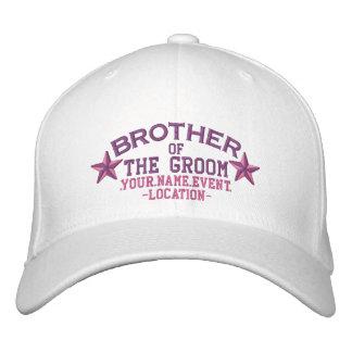 Gorra Bordada Estrellas personalizadas Brother del novio en rosa