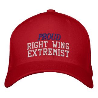 Gorra Bordada Extremista de la derecha orgulloso