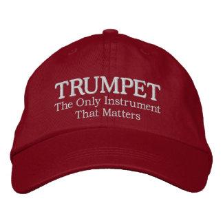 Gorra Bordada Gran casquillo bordado de la música de la trompeta