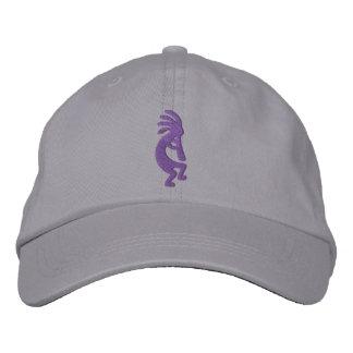 Gorra Bordada Gris púrpura de Kokopelli de la uva