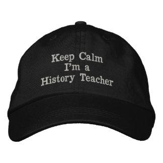 Gorra Bordada Guarde la calma que soy un casquillo del profesor