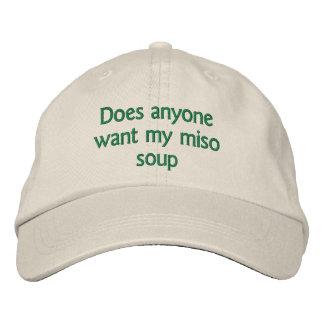 Gorra Bordada hace cualquier persona quieren mi sopa de miso