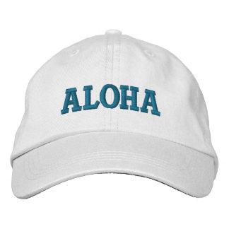 Gorra Bordada Hawaiana de la aguamarina