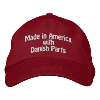 Gorra Bordada Hecho en América con las piezas danesas