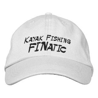 Gorra Bordada Kajak que pesca al fanático