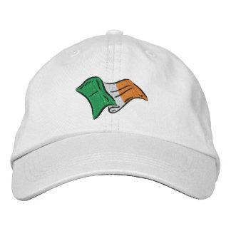 Gorra Bordada La bandera irlandesa de Irlanda bordó en un
