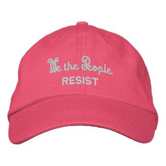 Gorra Bordada La gente nos oponemos a verano rosado de los oídos