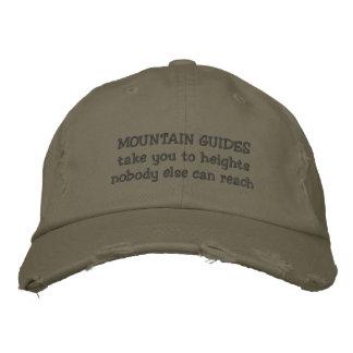 Gorra Bordada la montaña dirige el casquillo