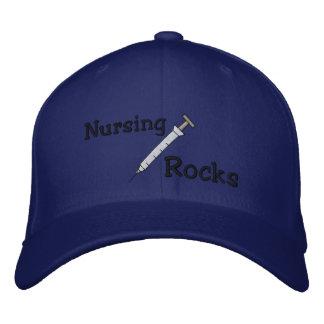 Gorra Bordada Las rocas del oficio de enfermera bordaron el