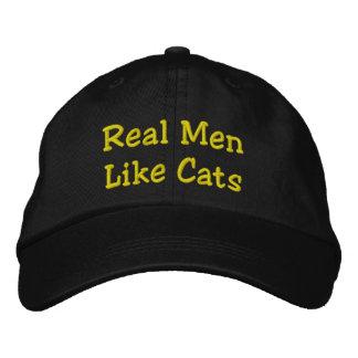 Gorra Bordada Los hombres reales tienen gusto de gatos