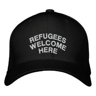 Gorra Bordada Los refugiados son agradables aquí