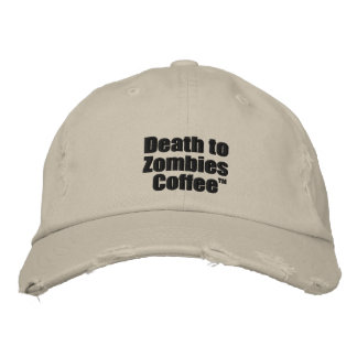 Gorra Bordada Muerte al casquillo del café de los zombis