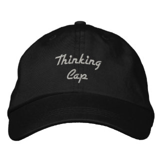 Gorra Bordada Negro del casquillo de pensamiento con el bordado