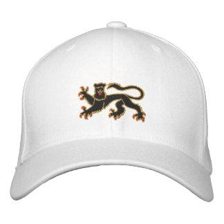 Gorra Bordada Negro y casquillo bordado león desenfrenado del