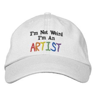 Gorra Bordada No soy extraño, yo soy artista