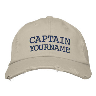 Gorra Bordada Nombre de encargo del capitán o del barco