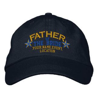 Gorra Bordada Padre personalizado de las estrellas del azul del
