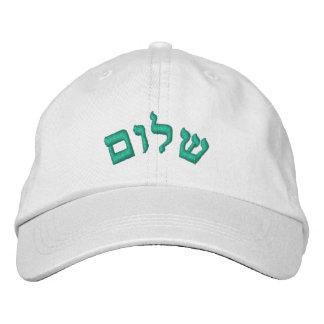 Gorra Bordada Shalom, hebreo