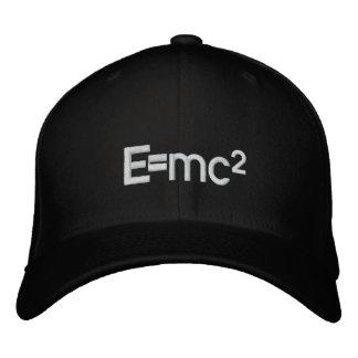 Gorra Bordada Velocidad   de E=mc2 Albert Einstein de la luz