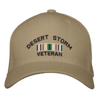 Gorra Bordada Veterano de tormenta de desierto