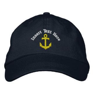 Gorra bordado ancla de encargo gorra de béisbol bordada