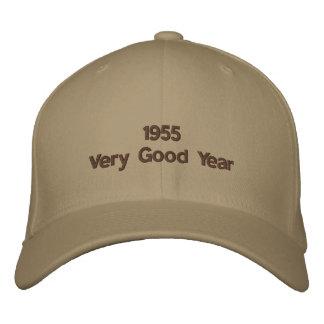 Gorra bordado año muy bueno 1955 gorras de béisbol bordadas