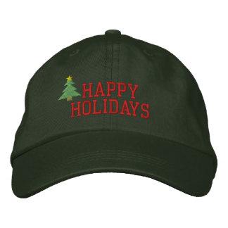 Gorra bordado árbol de navidad