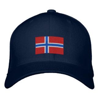 Gorra bordado bandera de las lanas del flexfit de