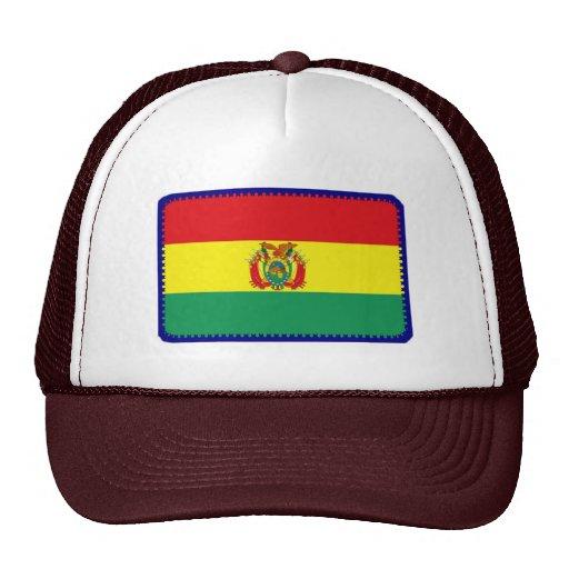 Gorra bordado bandera del efecto de Bolivia