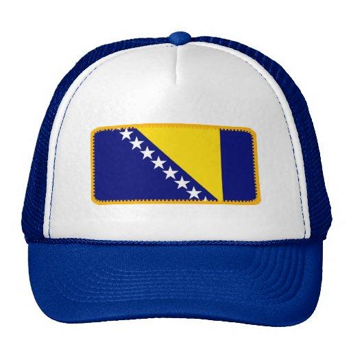 Gorra bordado bandera del efecto de Bosnia
