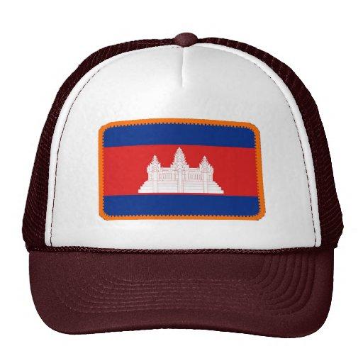 Gorra bordado bandera del efecto de Camboya