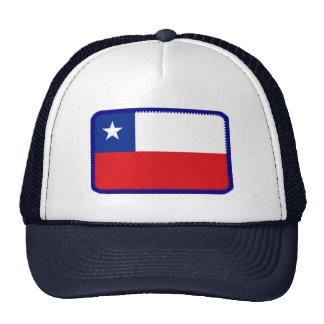Gorra bordado bandera del efecto de Chile
