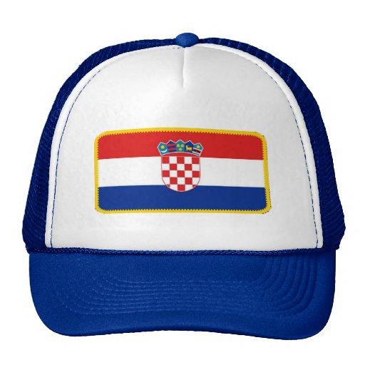 Gorra bordado bandera del efecto de Croacia