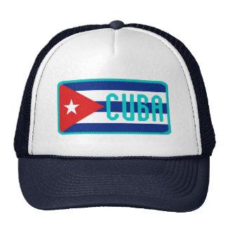 Gorra bordado bandera del efecto de Cuba