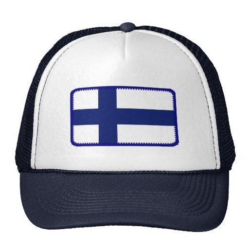 Gorra bordado bandera del efecto de Finlandia