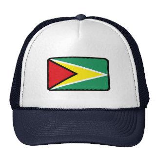 Gorra bordado bandera del efecto de Guyana