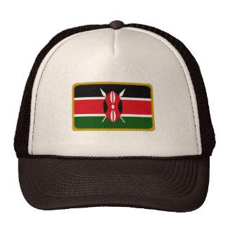 Gorra bordado bandera del efecto de Kenia