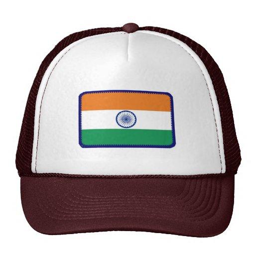 Gorra bordado bandera del efecto de la India