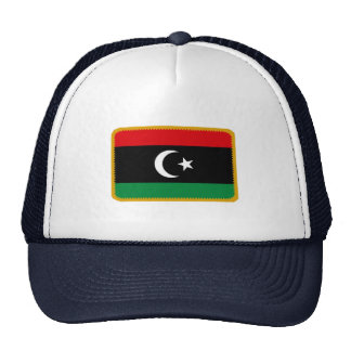 Gorra bordado bandera del efecto de Libia