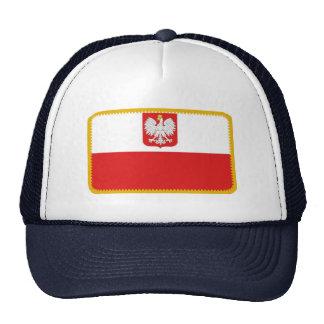 Gorra bordado bandera del efecto de Polonia