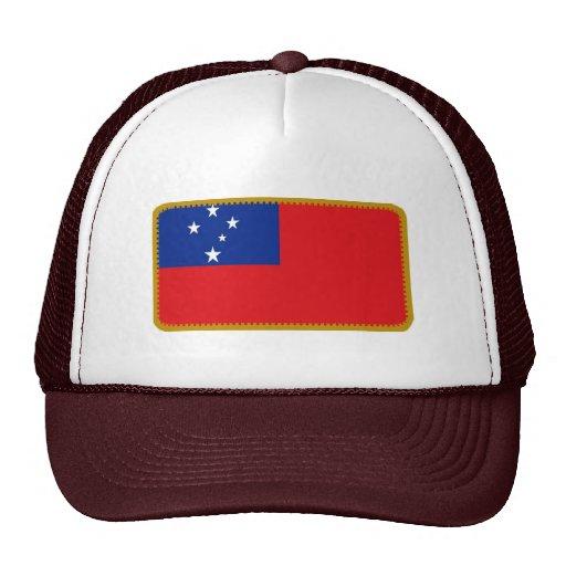 Gorra bordado bandera del efecto de Samoa