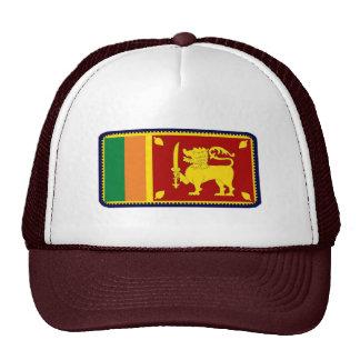 Gorra bordado bandera del efecto de Sri Lanka