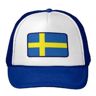 Gorra bordado bandera del efecto de Suecia