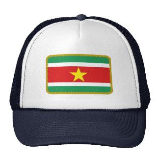 Gorra bordado bandera del efecto de Suriname