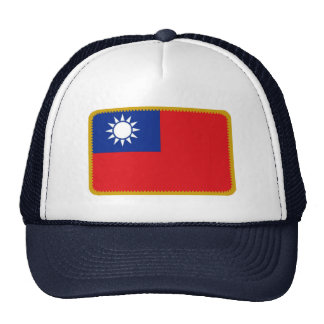 Gorra bordado bandera del efecto de Taiwán