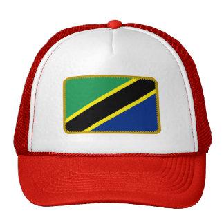 Gorra bordado bandera del efecto de Tanzania
