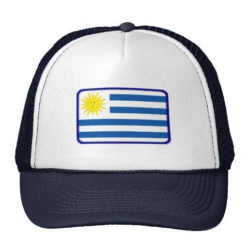 Gorra bordado bandera del efecto de Uruguay