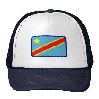 Gorra bordado bandera del efecto de Zaire