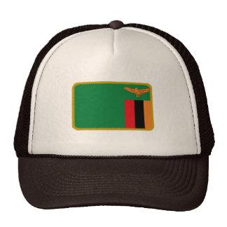 Gorra bordado bandera del efecto de Zambia